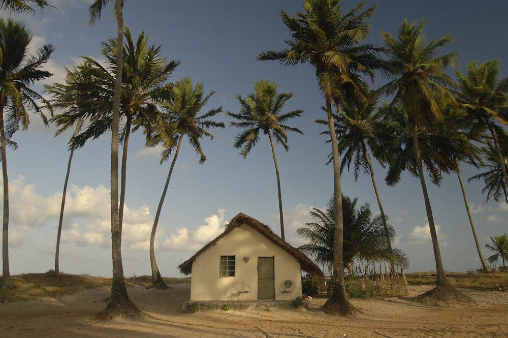 Casa no litoral nordeste do Brasil